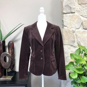H&M Brown Corduroy Classic Blazer Suit Jacket 16